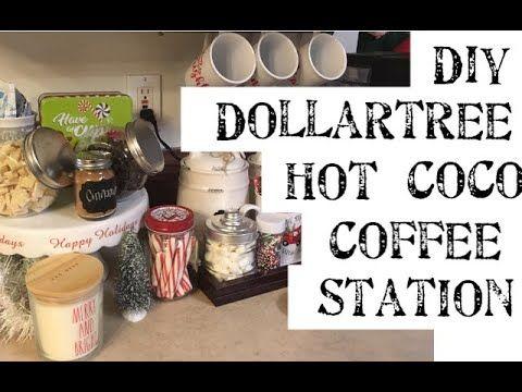 Utube 2020 Christmas Coffee Cicoa Bar DIY Dollartree Hot Coco Station & Coffee Bar   YouTube | Coffee