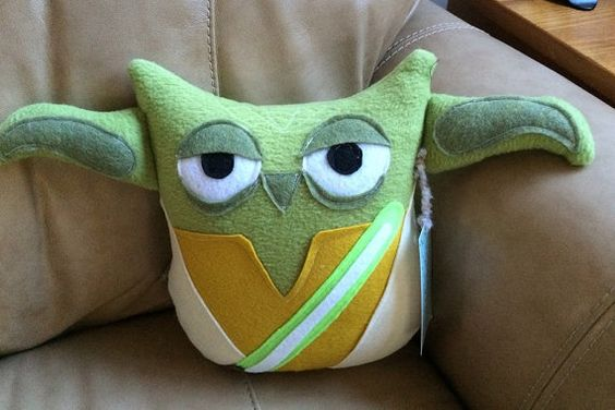 Yoda Owl Plushie Inspired by Star Wars Yoda by sewgoodtoseeyou