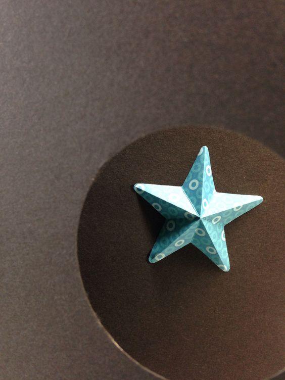 Weihnachtskarte mit Stern 3D