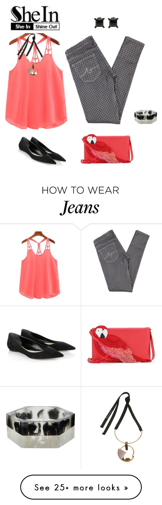 """top 2"" by natalyag on Polyvore featuring AG Adriano Goldschmied, Christian Dior, Kate Spade and Marni"