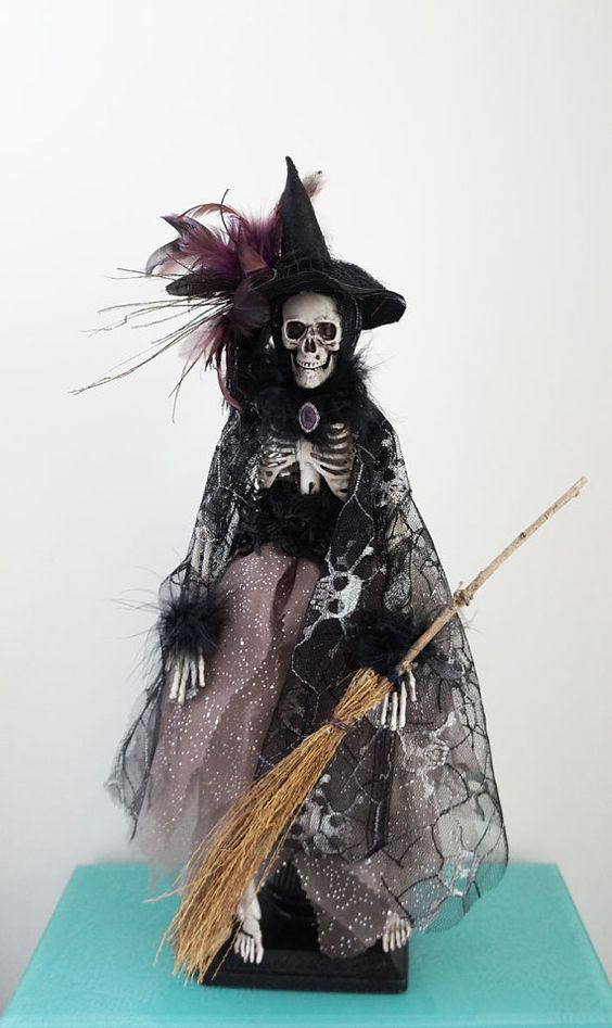 Halloween Skeleton Art Doll  Original and One of a by sarahogren, $85.00