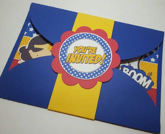 Invitacion Wonder Woman Invitaciones Mujer Maravilla