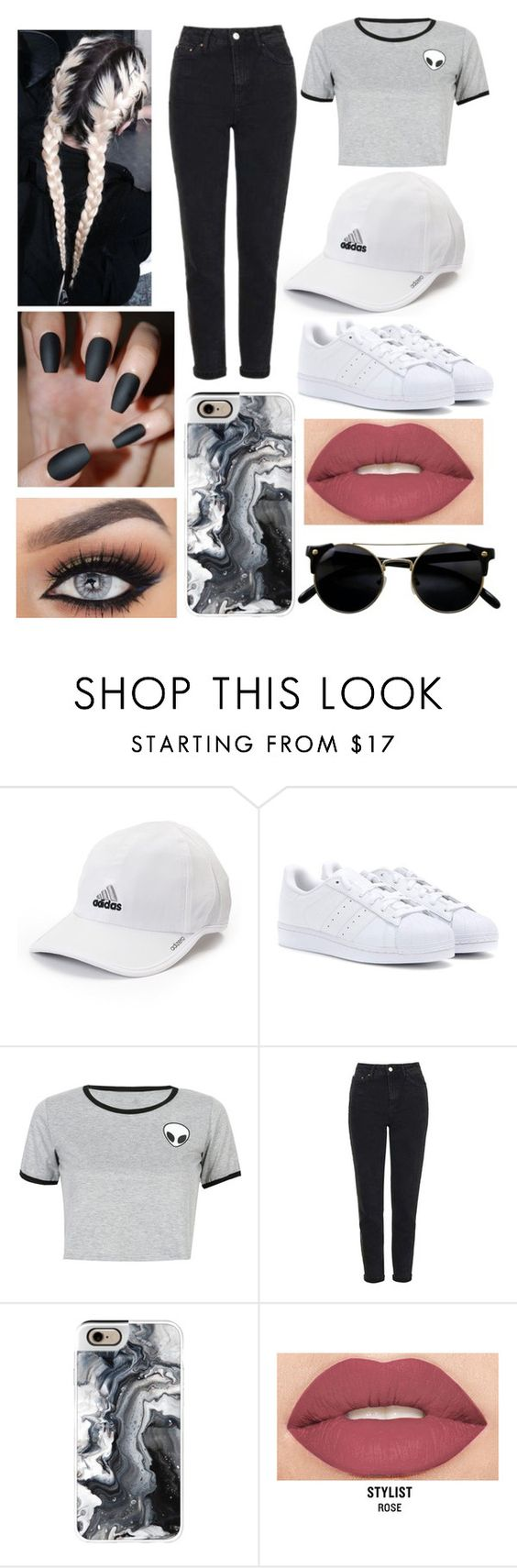 """""""And if the pain is a sound, let's slow it down"""" by itsvictoria72 ❤ liked on Polyvore featuring adidas, WithChic, Topshop, Casetify and Smashbox"""