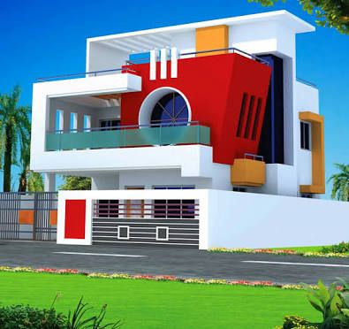 Small House With Car Parking Construction Elevation क ल ए इम ज पर ण म Modern House Design Small House Elevation Design Small House Blueprints