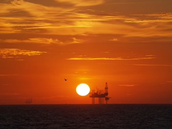 Sunrise North Sea by Robert Andrew Monteith Main