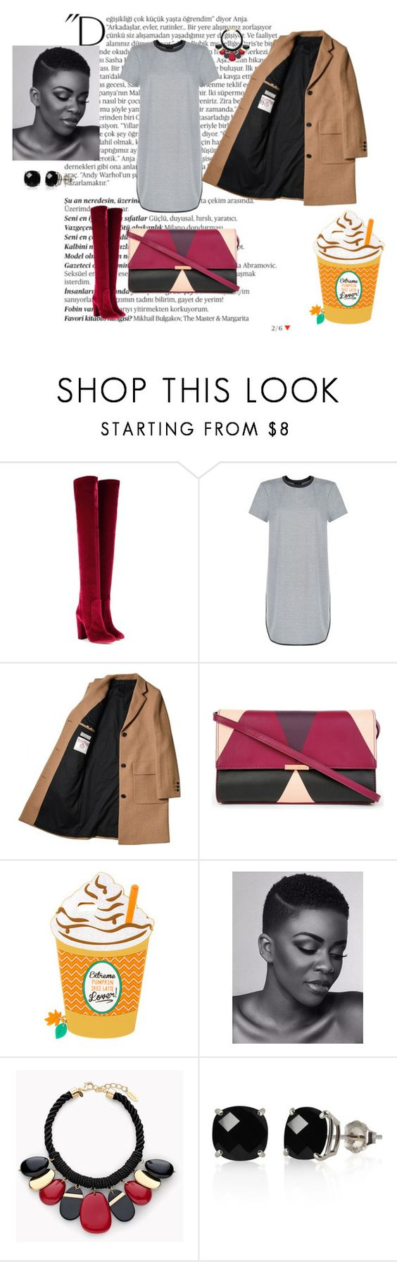 """""""Du style"""" by jennymunene on Polyvore featuring Balmain, Aquazzura, New Look, Ted Baker, Chico's and Belk & Co."""