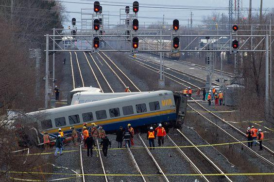Photos: Three killed in Via Rail train derailment in Burlington, Ont.