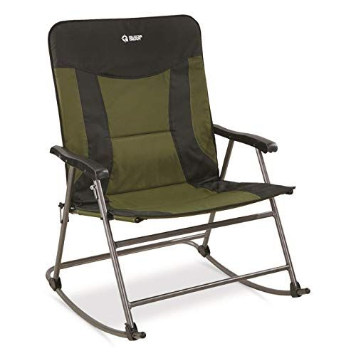 Guide Gear Oversized Xxl Rocking Camp Chair Is Very Large Padded And With Great Capacity It Comes With Solid Armrests And With Headrest Camping Campingcha