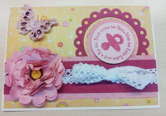 Eine süße kleine Babygirl-Karte.