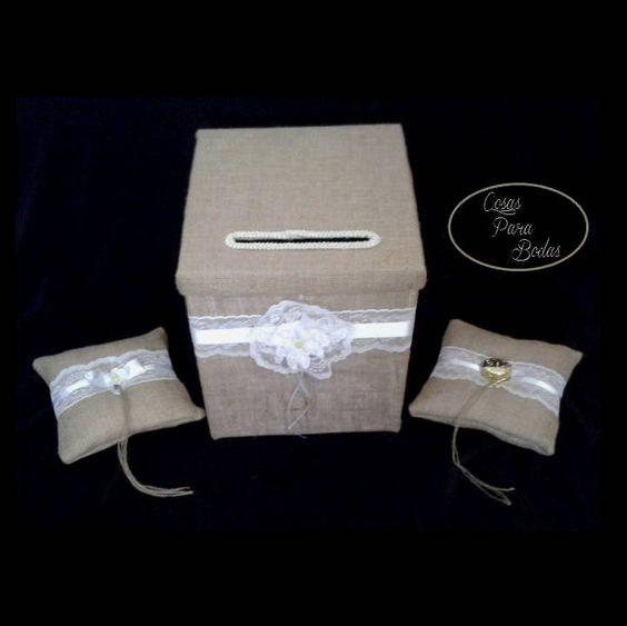 Co 119 combo para bodas buzon para sobres y cojines para arras y anillos vintage combos para - Buzon vintage ...