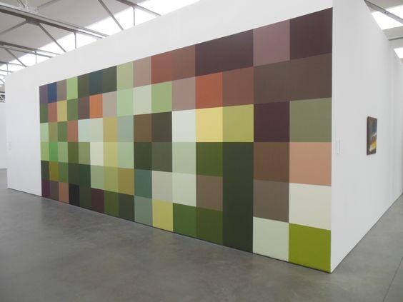 Angela Bulloch, Lanzarote, pixel wall painting, 2006