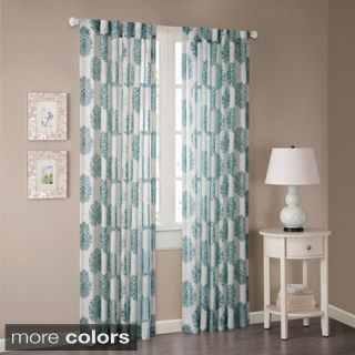Madison Park Emerson Arabesque Curtain Panel (95''-Teal Blue ...