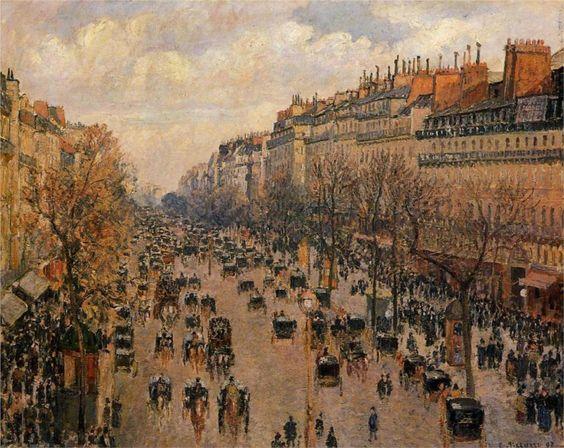 Boulevard Montmartre Afternoon, Camille Pissarro, 1897