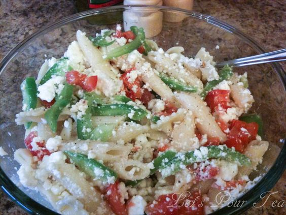 Greek Pasta Salad Make Ahead Party Food Easy Appetizer