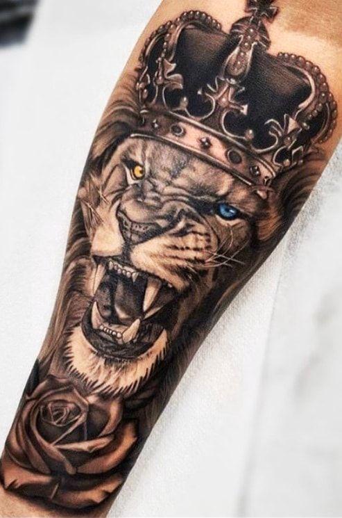70 Lion Tattoos Women And Men Toptatuagens In 2020 Tattoos For Guys Forearm Tattoo Men Wolf Tattoo Sleeve