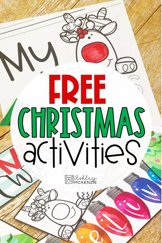 Free Christmas Activities for Elementary Students