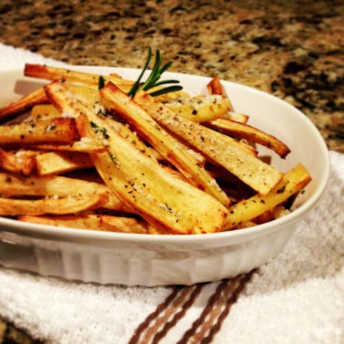 Eating Clean Baked Parsnip Fries.    Now you can have your french fries and eat them, too! The mild taste of parsnips is delicious, and even kids (and men!) love them.  www.EatingCleanGettingLean.com