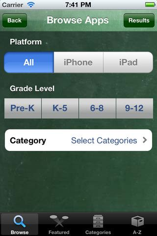 A Database of over 500 FREE educational apps sorted by grade level and content area... at your fingertips.