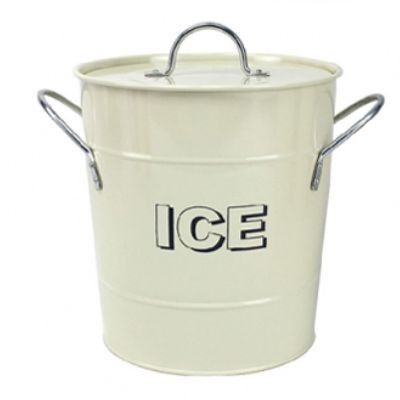 Cream Ice Bucket with Handles and Internal Thermal Lining. www.prettymaison.co.uk 01353 665141