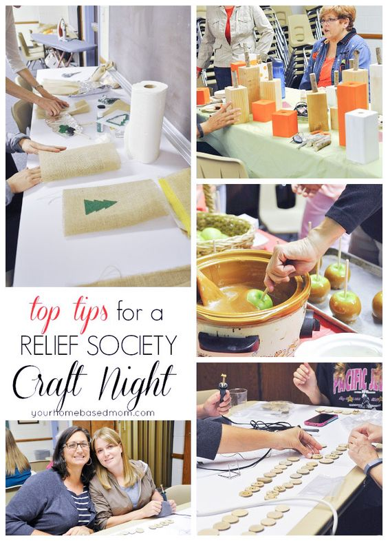Tips for a Relief Society Craft night! #supersaturday