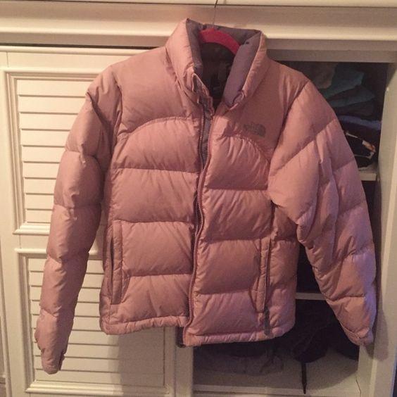 Light Pink North Face Puffer Jacket Super Cute Light Pink