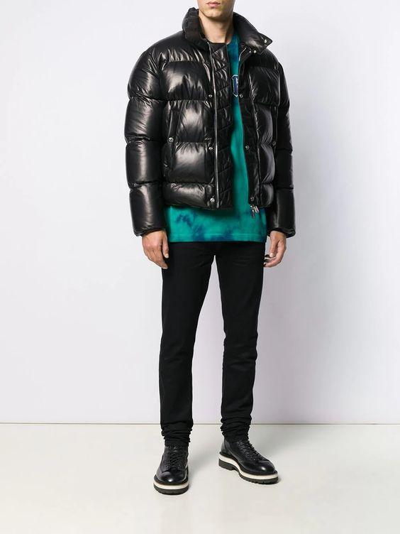 グラメでキムタクが着ていたレザーダウンブランドDsquared2 パデッドジャケット - Farfetch