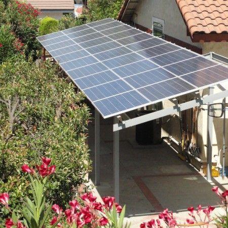 Easydiy Energia Solar Estructura De Sombra Instalacion De Paneles Solares