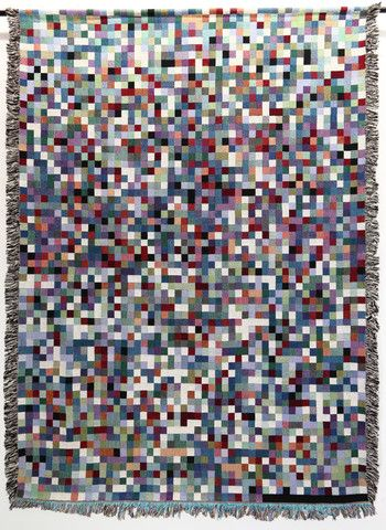 This is what the flu looks like when its DNA sequence is rendered as a pixel mosaic -- by Philip Stearns aka GlitchKnit