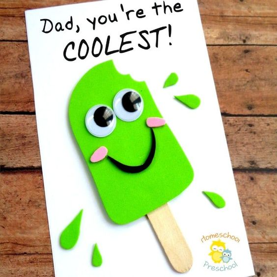 coolest dad diy fathers day card