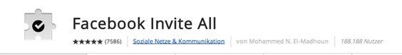 Alle Facebook Freunde einladen Chrome 2014 - Mehr Infos zum Thema auch unter http://vslink.de/internetmarketing