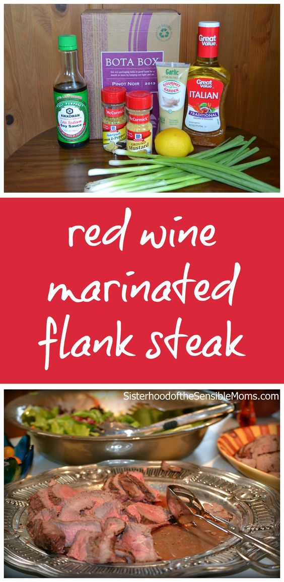 Wine Marinated Flank Steak | Whether you call it London broil or flank ...