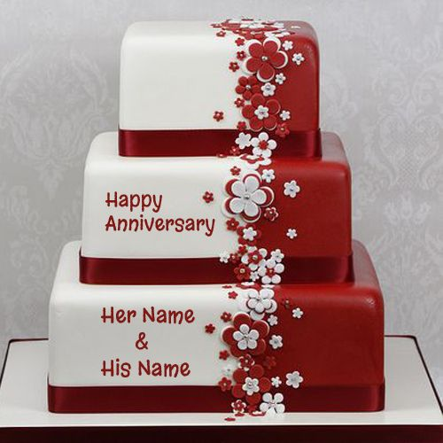 Happy anniversary cake name picture online rosalind s
