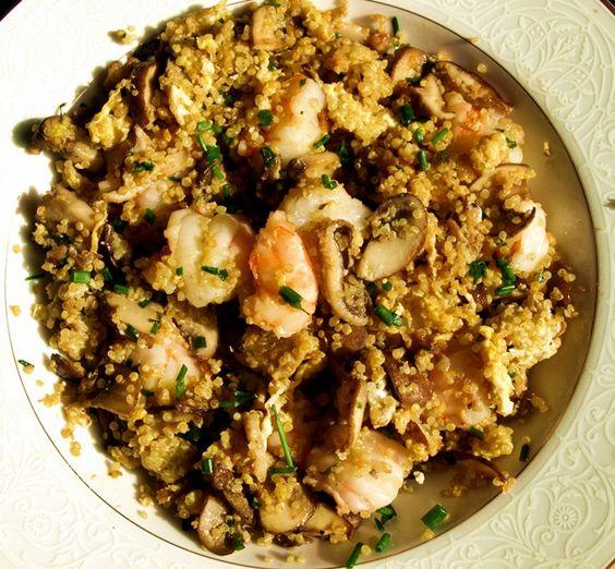 shrimp fried quinoa.