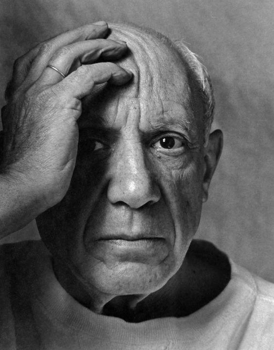 Pablo Picasso, La Galloise, Vallauris, France, 2 June 1954. (©Estate ofArnold Newman/Courtesy of Chris Beetles Fine Photographs).