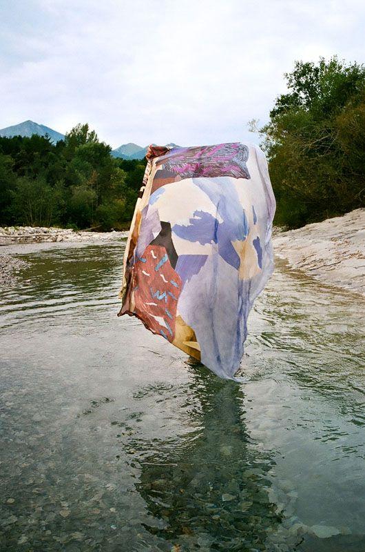 silk scarves-Matterhorn - Nabi Boubou Collection - SS 2012