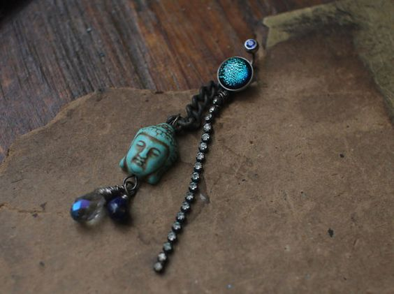buddha tribal assemblage navel belly button body by nearlylost, $25.00