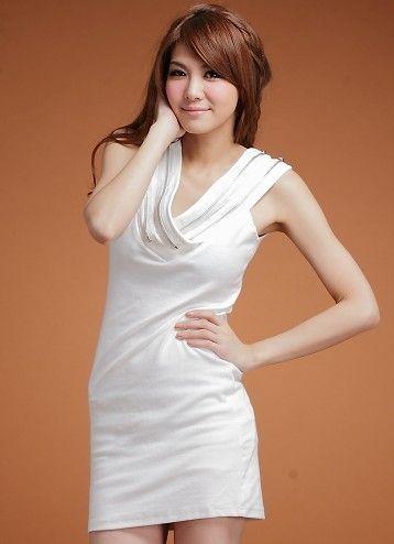 Zipper Piles Collar Sleeveless Full Coverage Dress