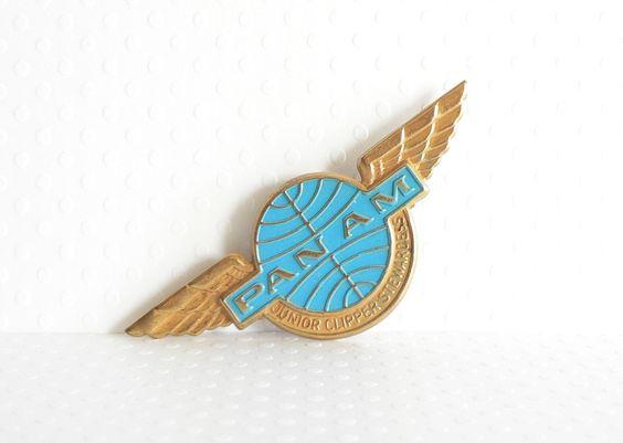 Vintage Pan Am Airlines Junior Stewardess Wings
