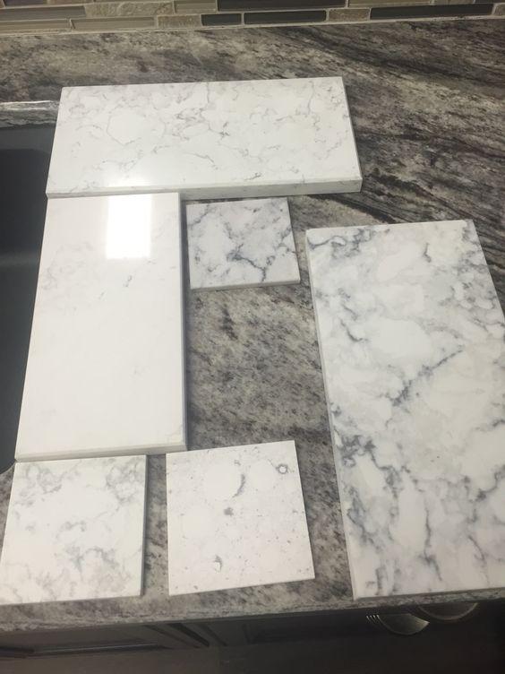 More practical Alternative to white marble , Calacatta nuvo by caesarstone , silestone blanco Orion , lg viatera rococo ..