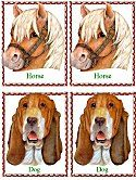 Matching Animals Game horse and dog