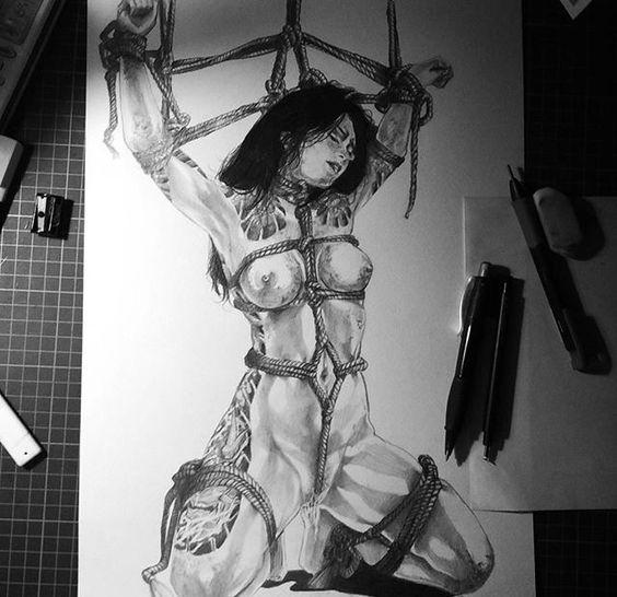 By : @dwianitass #illustration #realism #pencildrawing #portraitdrawing #shibari