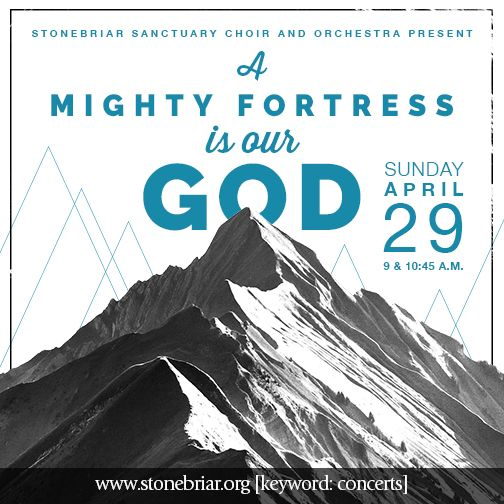 This Sunday Our Sanctuary Choir And Orchestra Will Present A Mighty Fortress Is Our God A Concert Of Worship During Both Services An Open Rehearsal Wi Cidade