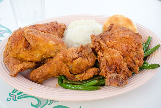 Fried chicken at Plaza Inn - suppose to be like crack chicken
