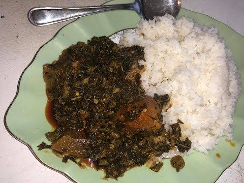 Stew Green Sierra Leone Dish Youtube West African Food African Food Sierra Leone