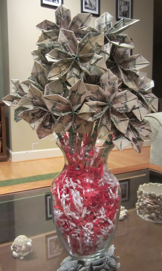 money tree craft ideas last minute gift a money bouquet diy projects 4985