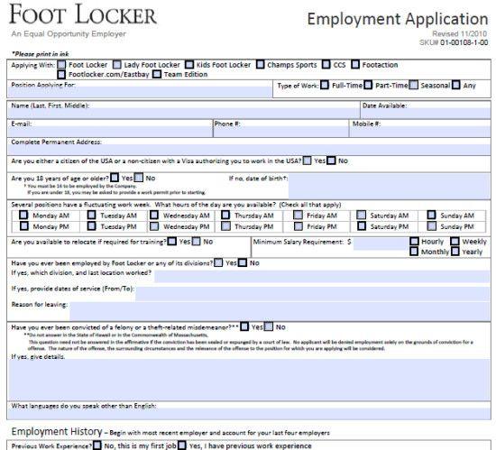 Little Caesars Application Form Printable