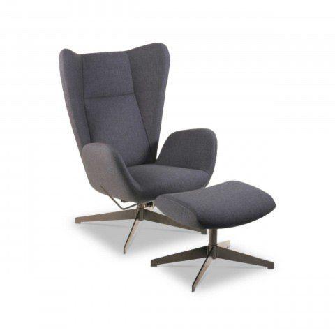 Kebe Sessel Mit Hocker Meson Grau Stoff Gunstig Bei Segmuller Sessel Mit Hocker Sessel Lounge Stuhl
