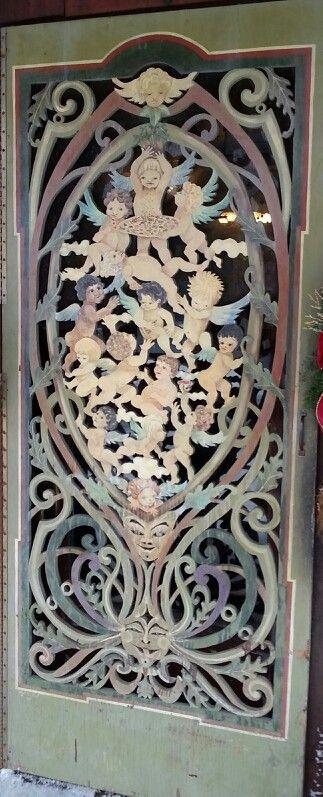 Hand carved screen door ar sirianni s cafe davis wv