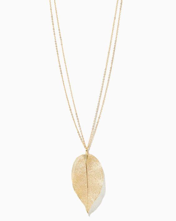 charming charlie | Filigree Leaf Pendant Necklace | UPC: 410007210300 #charmingcharlie