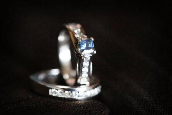 Sapphire Engagement/Wedding Ring